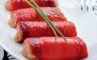 Ricetta rotolini di peperoni in salsa tonnata