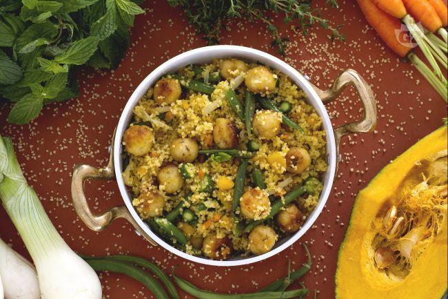 Ricetta couscous con verdure e polpettine di pesce