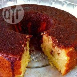 Torta senza uova all'arancia, con crema al cioccolato