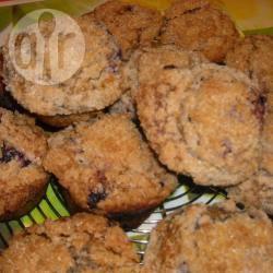 Muffins ai mirtilli con crumble alla cannella