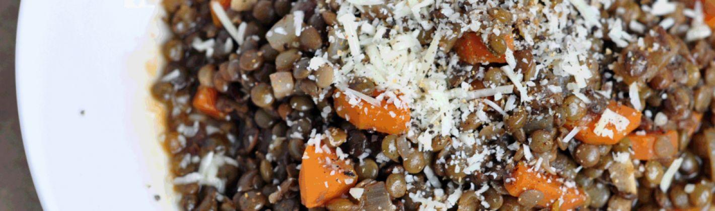 Ricetta lenticchie al vino rosso