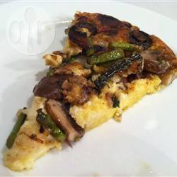 Frittata al forno con asparagi e funghi