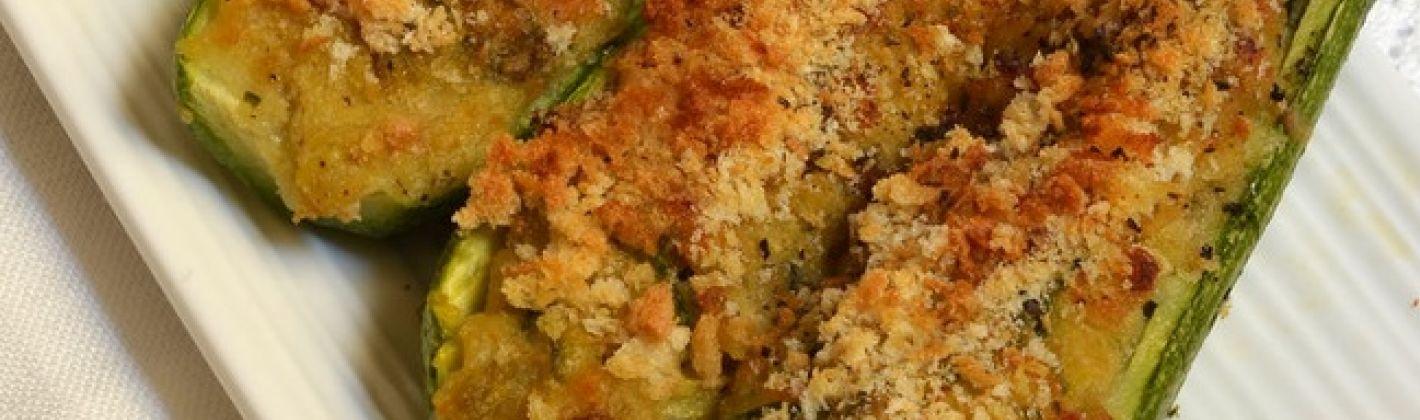 Ricetta zucchine ripiene di pasta ricotta e prosciutto
