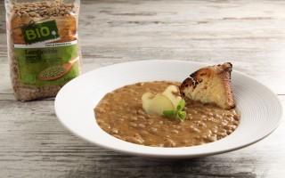 Ricetta zuppa di lenticchie verdi, zenzero e curcuma