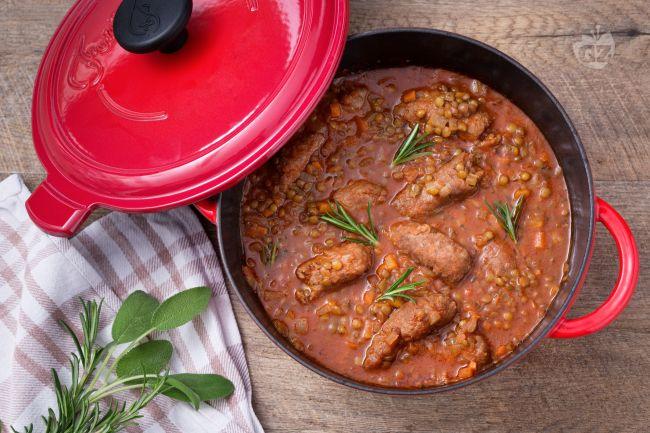 Ricetta lenticchie e salsiccia