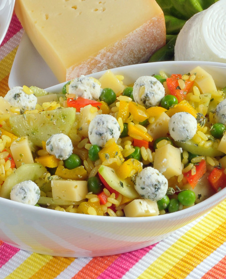 Riso giallo in insalata