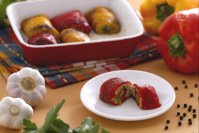 Ricetta involtini di peperoni al forno