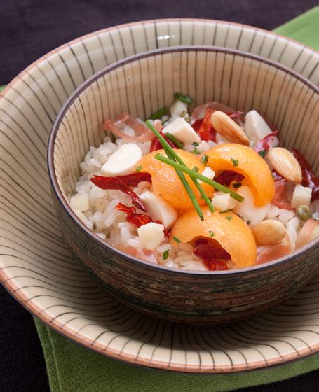 Insalata di riso con pomodori secchi