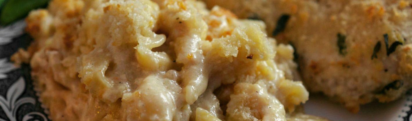 Ricetta pasta al forno con pancetta, porri e salsa gruviera