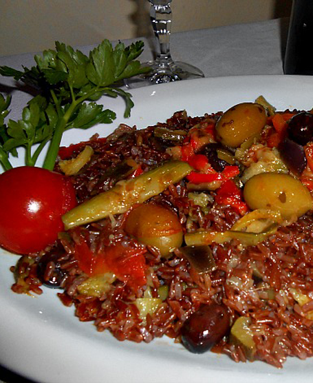 Riz rouge camargue alle verdure