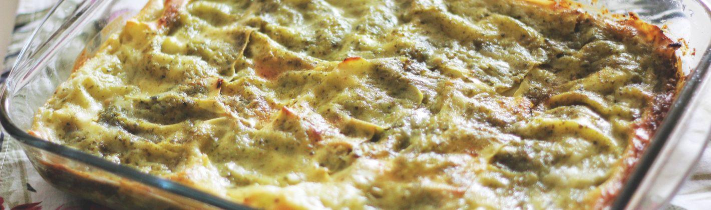 Ricetta lasagne al pesto di rucola e quartirolo lombardo