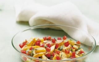 Ricetta zucchine, patate e pomodori al forno