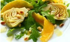 Ricetta insalata tiepida di carciofi e arance