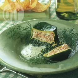 Timballi di lasagne al salmone con besciamella alle erbe