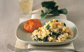 Ricetta risotto con spinaci e pomodori