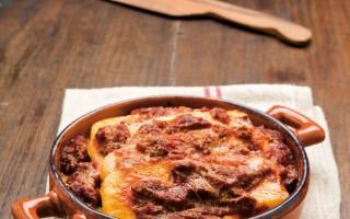 Ricetta polenta pasticciata con il sugo finto