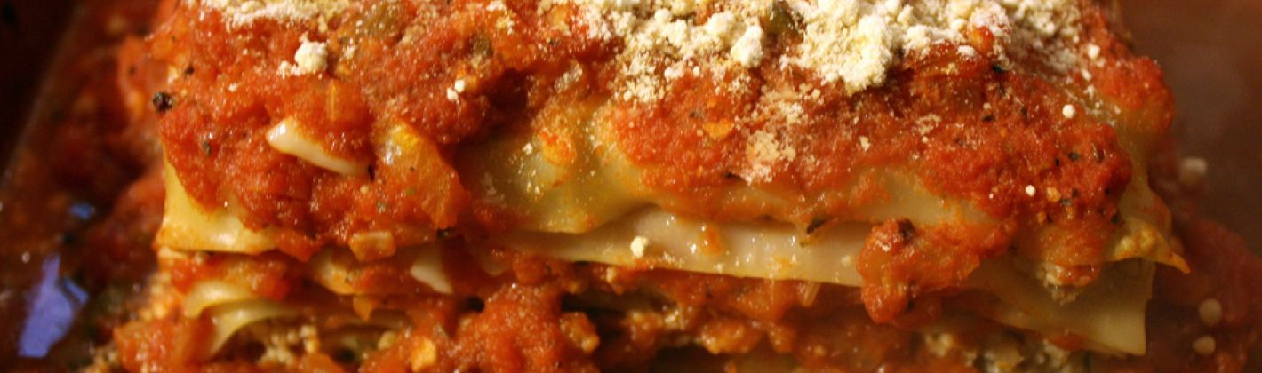 Lasagne vegetariane con le lenticchie