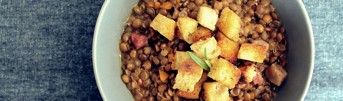 Ricetta crostini fritti di lenticchie