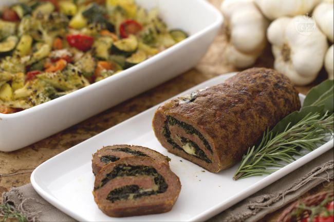Ricetta rollè di macinato con teglia di verdure