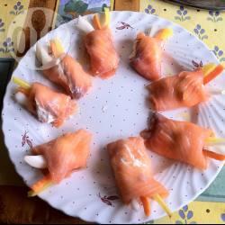 Fagottini di salmone e philadelphia