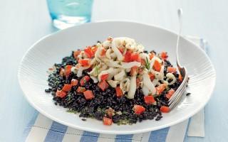 Ricetta seppioline al rosmarino con riso venere