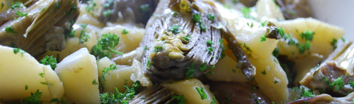 Ricetta carciofi e patate al forno