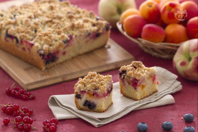 Ricetta crumb cake con frutta estiva