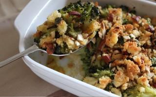 Ricetta broccoli al forno con pane al peperoncino