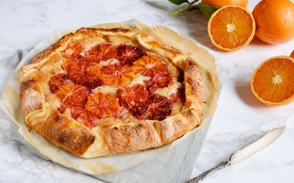 Ricetta blood orange galette