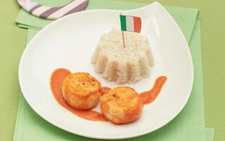 Ricetta polpettine di pollo con timballini di riso