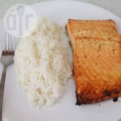 Salmone al forno all'arancia e zenzero