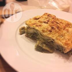 Lasagne vegetariane fatte in casa ai carciofi e fontina