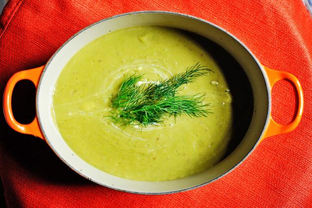 Zuppa cremosa di broccoli