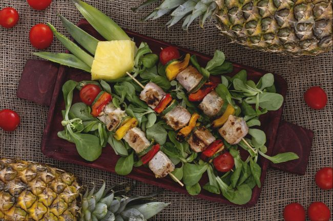 Ricetta spiedini marinati all'ananas