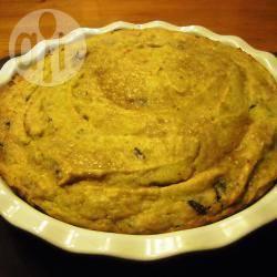 Torta di patate dolci con gocce di cioccolato