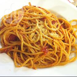 Bucatini all'amatriciana con pancetta