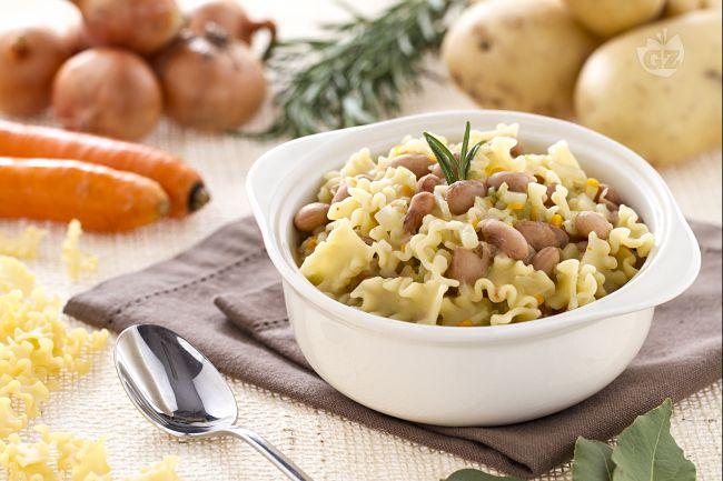 Ricetta minestra di pasta e borlotti