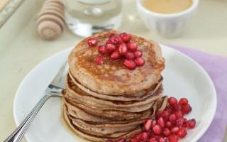 Ricetta pancake alle castagne e melagrane