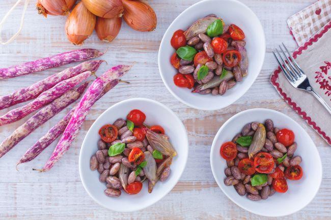 Ricetta insalata di borlotti freschi