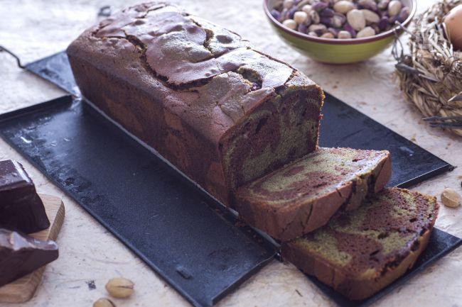 Ricetta plumcake al pistacchio variegato al cioccolato