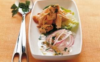 Ricetta insalata di salmone e cipolla