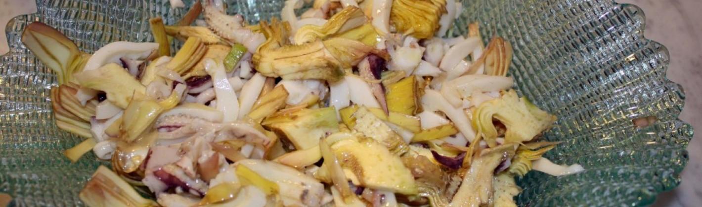 Ricetta insalata di seppie e carciofi