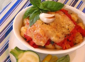 Canestrelli all'aglio e pomodoro gratinati
