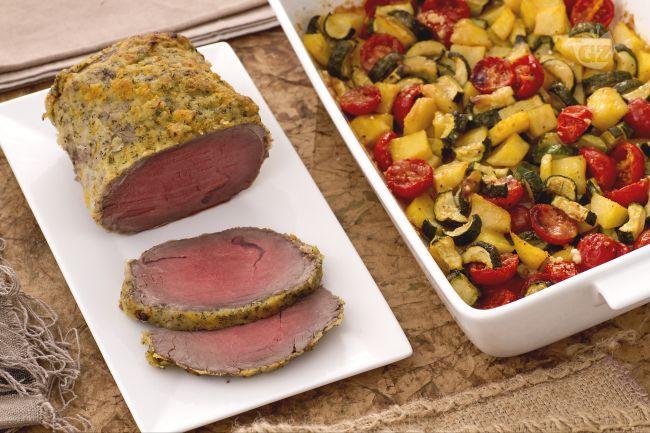 Ricetta roast beef agli agrumi con teglia di patate zucchine e ...