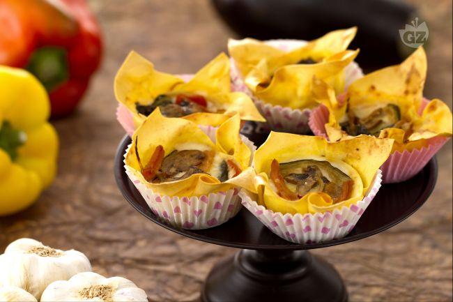 Ricetta lasagne vegetariane cupcake