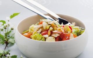 Ricetta misto di formaggio, pollo e verdure al curry