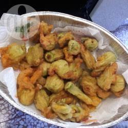 Zucchine e fiori di zucca fritti