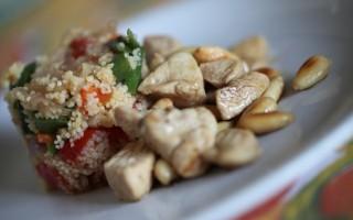 Ricetta cous cous alle verdure con pollo alle mandorle