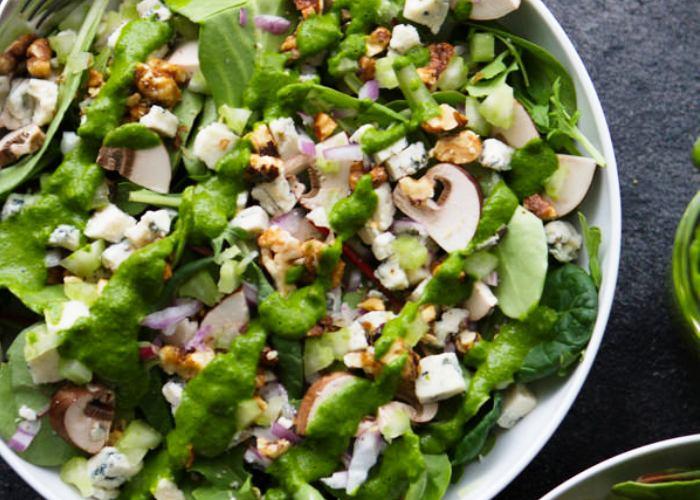Ricetta insalata di lattuga e funghi