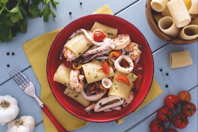 Ricetta schiaffoni (o paccheri) ai frutti di mare